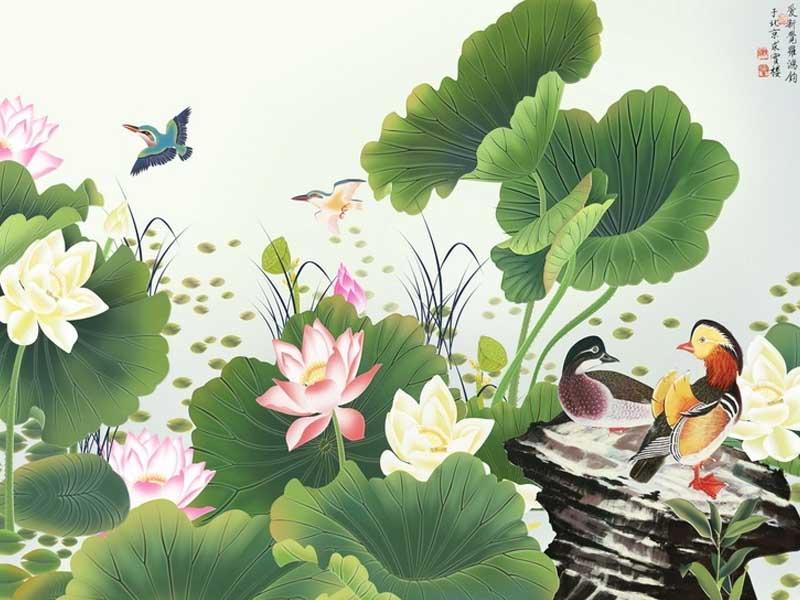 Vịt bơi dưới tán lá sen-Sĩ tử thành danh