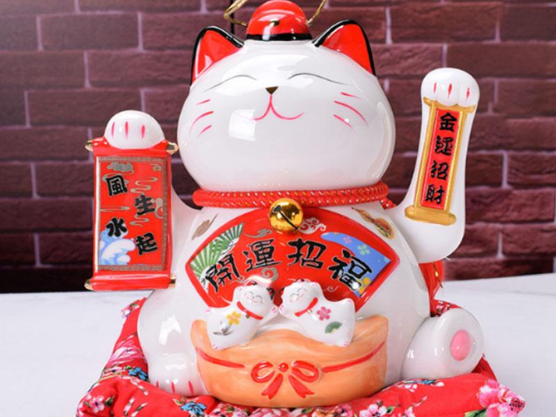Cách Đặt Mèo Thần Tài Hợp Phong Thủy